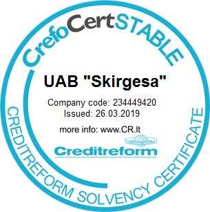 Skirgesa pasitikėjimo sertifikatas