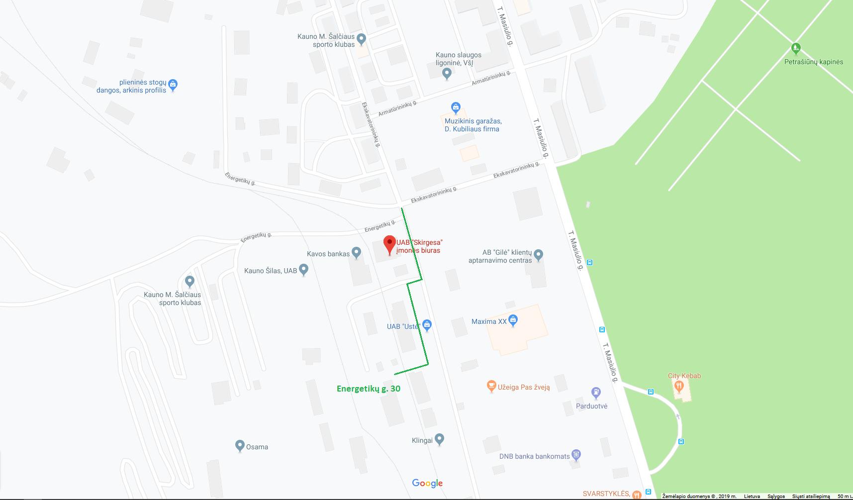 Kaip rasti Energetikų g. 30, Kaunas?